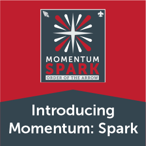 A red and white star, the logo of Momentum Launch