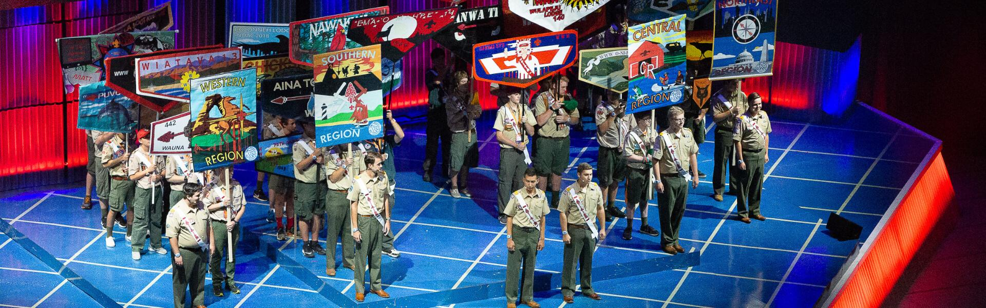 Parade of Lodges during the Opening Show at NOAC 2018