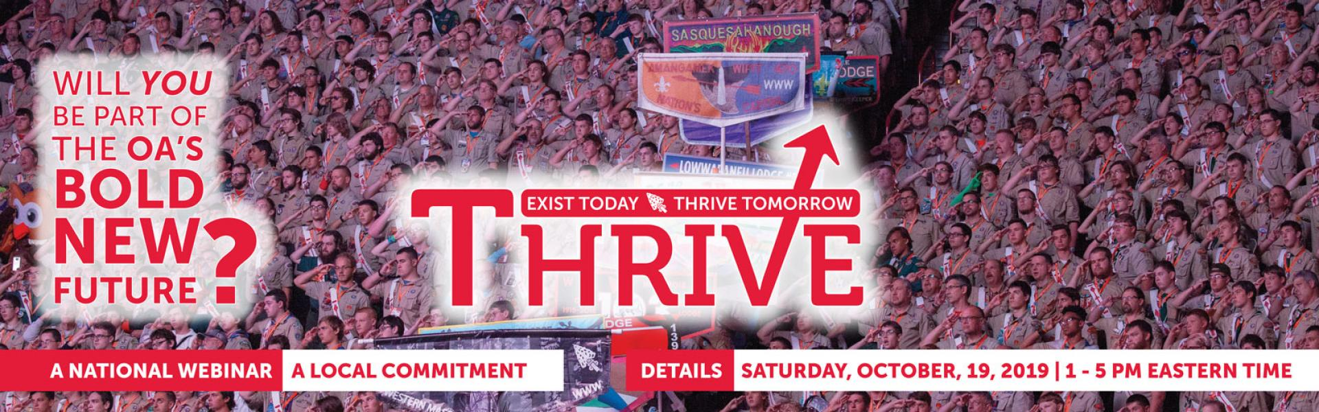 Thrive: A National Webinar, A Local Commitment