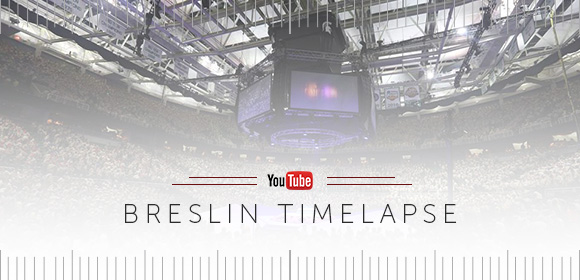 Check out this cool timelapse from the Breslin Student Events Center at NOAC 2015!